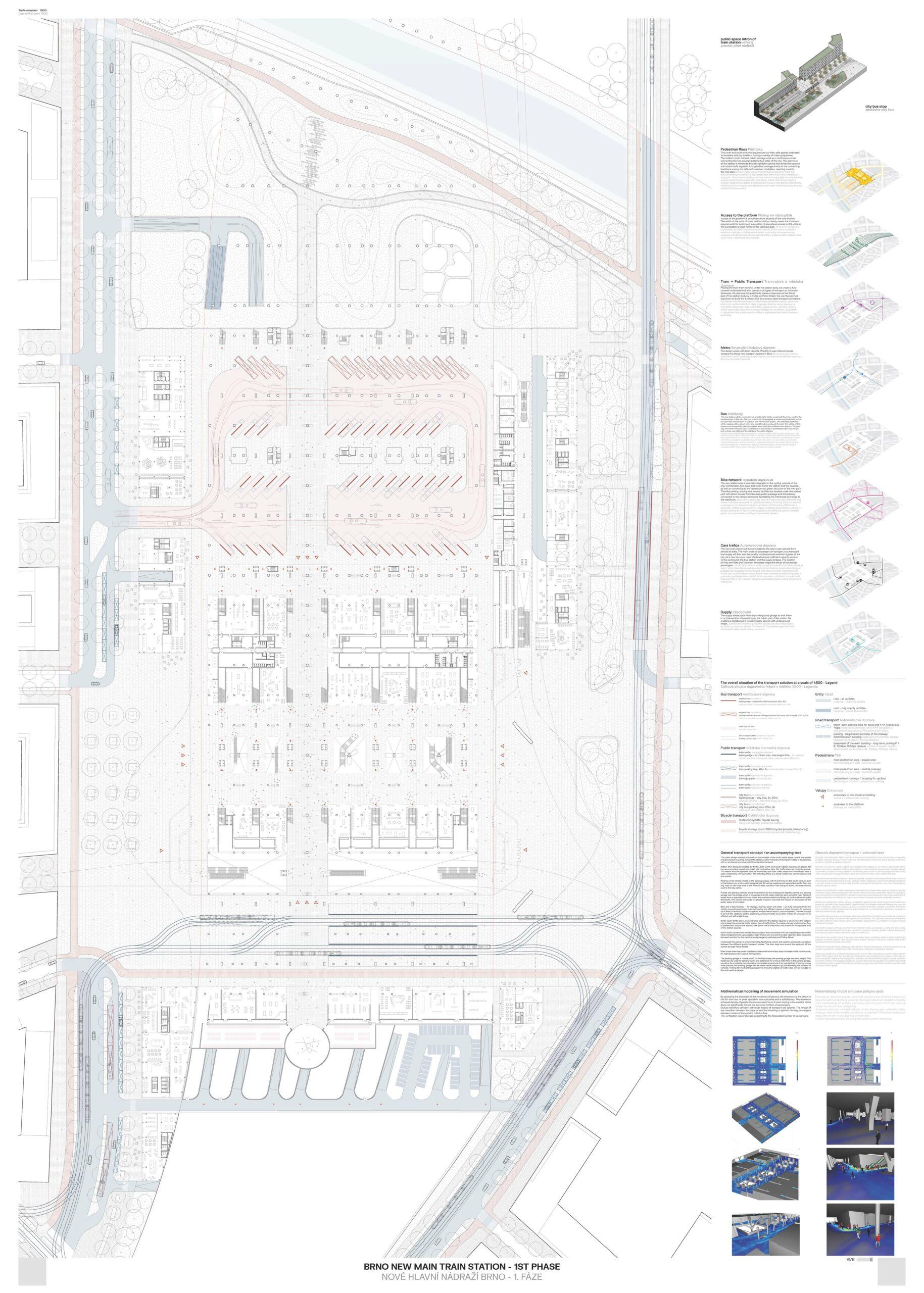 Brno New Main Train Station - MVSA Architects + JIKA-CZ s.r.o. + KCAP Architects & Planners