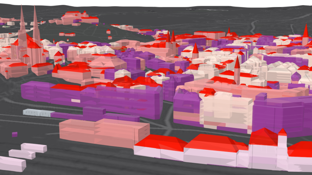Data specialists have created a map with 3D models of buildings