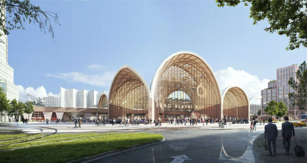 World-class architecture in Brno: Dutch architects Benthem Crouwel won the international competition for the new main train station