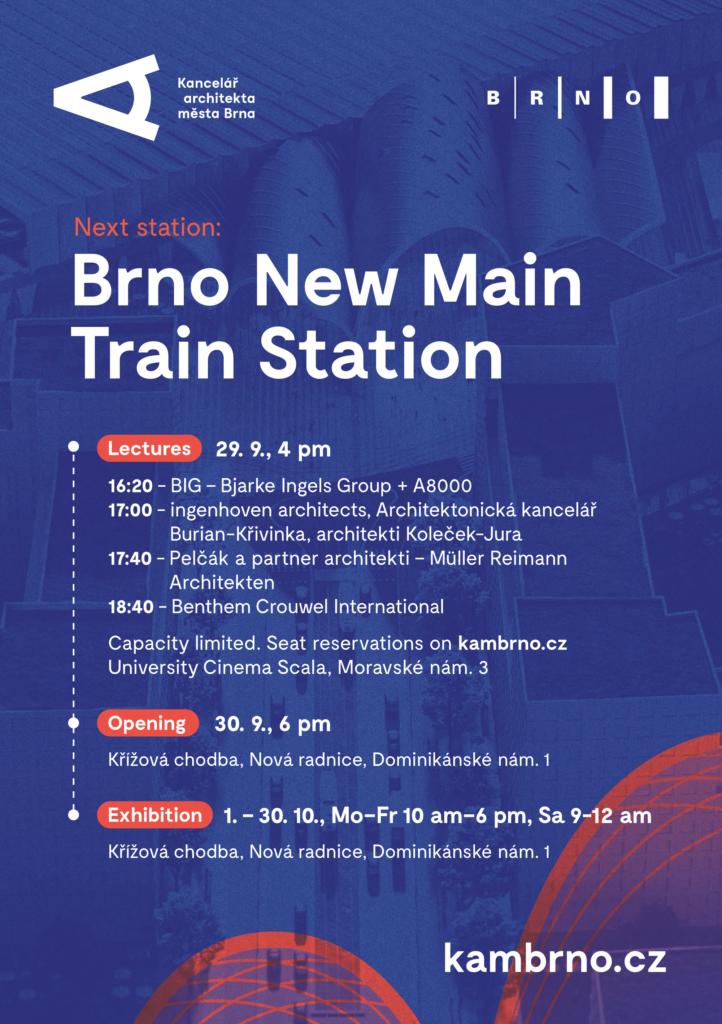 Next station: Brno New Main Train Station
